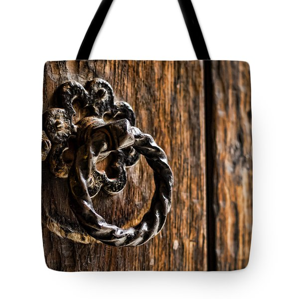 Door Knocker Tote Bag by Heather Applegate