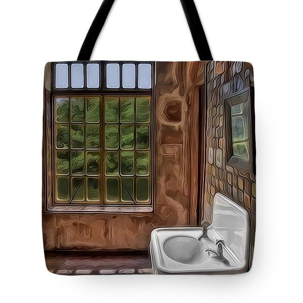 Dormer And Bathroom Tote Bag by Susan Candelario