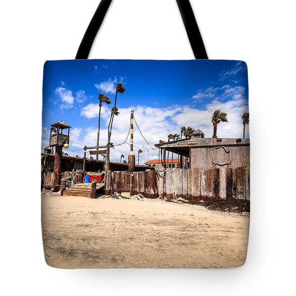 Dory Fishing Fleet Market in Newport Beach California Tote Bag by Paul Velgos