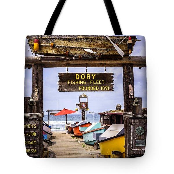 Dory Fishing Fleet Market Newport Beach California Tote Bag by Paul Velgos