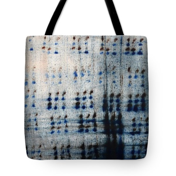 Dot Pattern Abstract Shower Curtain Tote Bag by Deborah DR Kralich