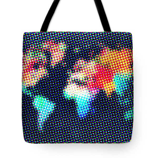 Dotted World Map 1 Tote Bag by Naxart Studio