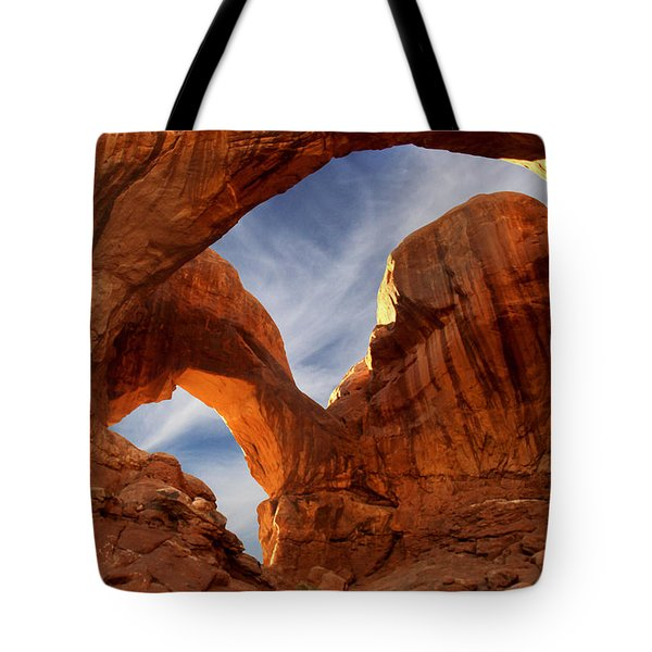 Double Arch - Utah Tote Bag by Mike McGlothlen