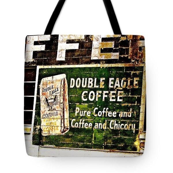 Double Eagle Coffee Tote Bag by Scott Pellegrin