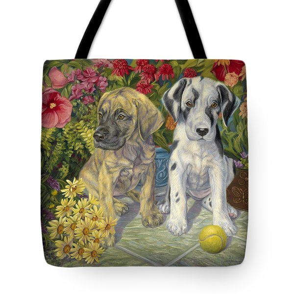 Double Trouble Tote Bag by Lucie Bilodeau