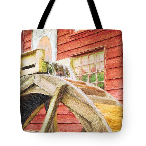 Down By The Old Mill Tote Bag by Jeff Kolker