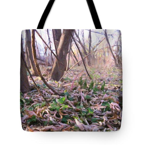 Down Here - Digital Painting Effect Tote Bag by Rhonda Barrett