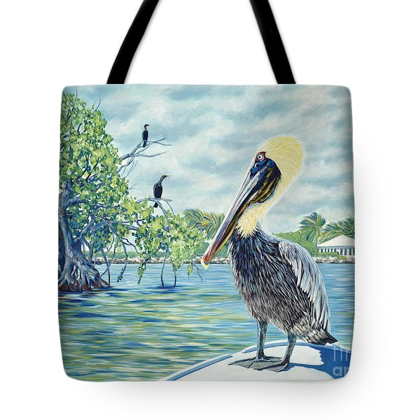 Down In The Keys Tote Bag by Danielle  Perry