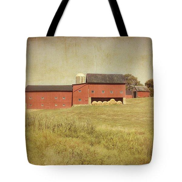 Down on the Farm Tote Bag by Kim Hojnacki