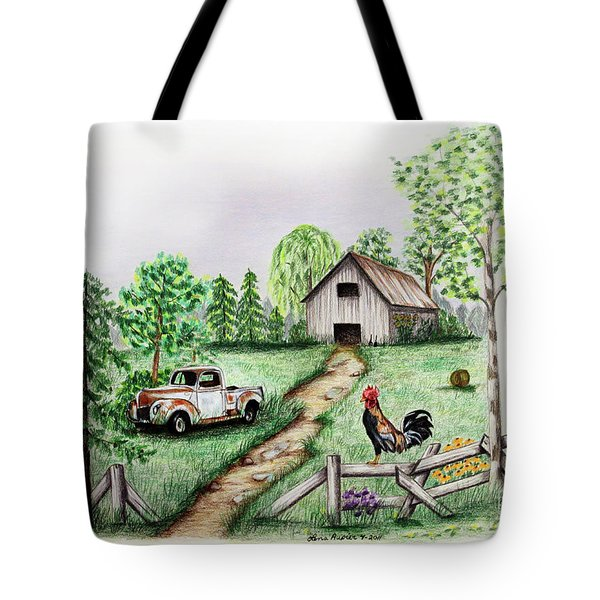 Down On The Farm Tote Bag by Lena Auxier
