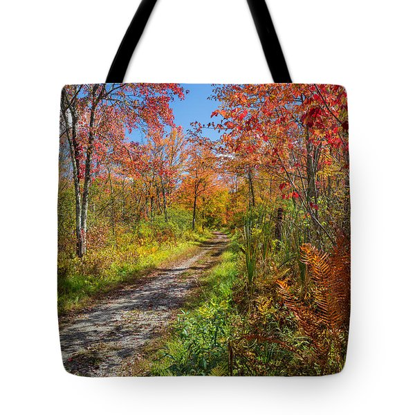Down The Autumn Road Tote Bag by Bill  Wakeley