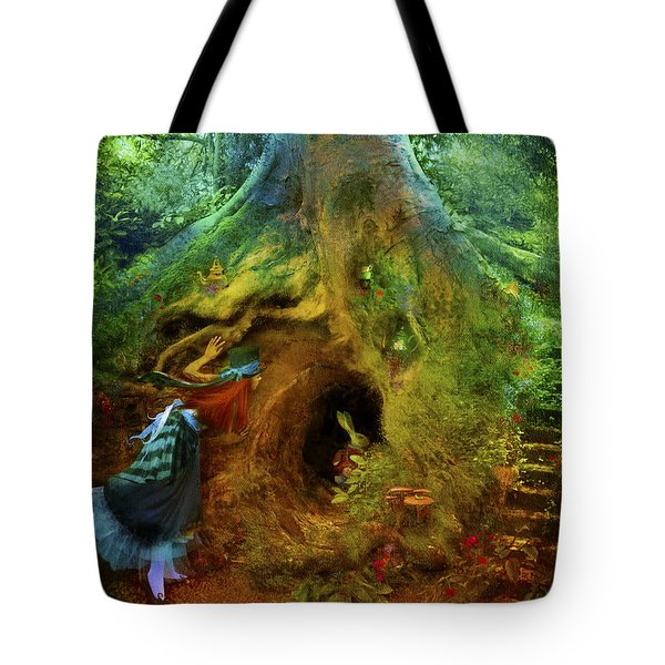 Down The Rabbit Hole Tote Bag by Aimee Stewart
