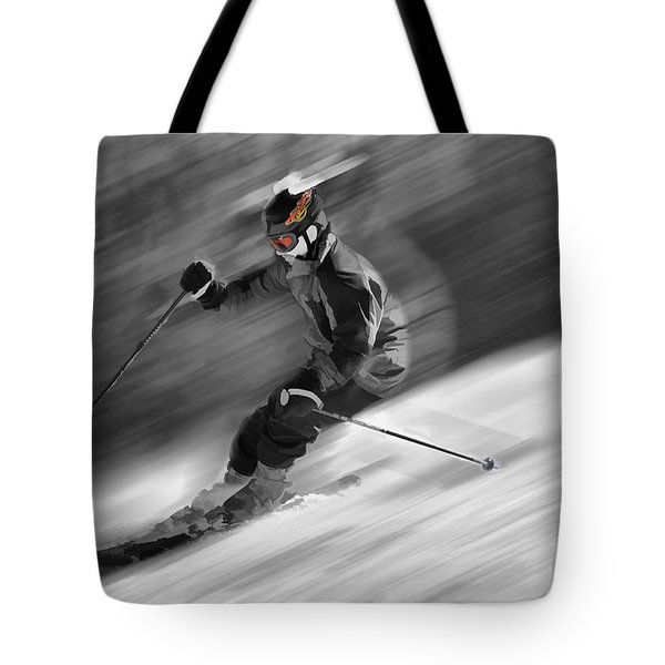 Downhill skier  Tote Bag by Dan Friend