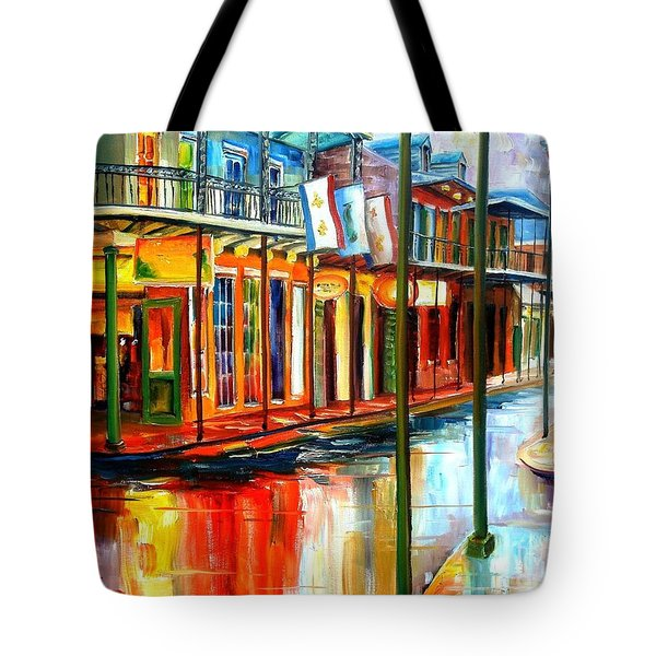 Downpour On Bourbon Street Tote Bag by Diane Millsap