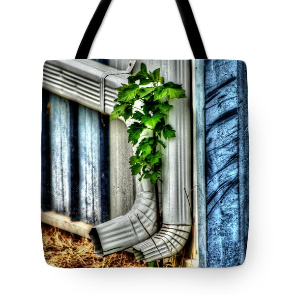 Downspout Tote Bag by Michael Braham