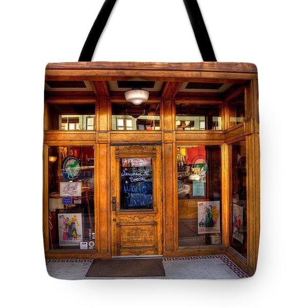 Downtown Athletic Club - Prescott Arizona Tote Bag by David Patterson