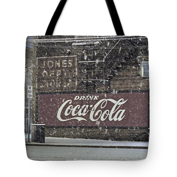 Downtown Covered In Snow Tote Bag by Benanne Stiens