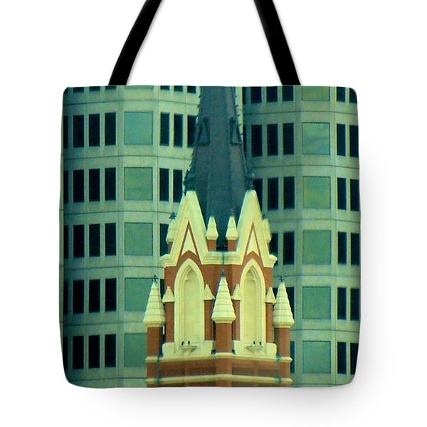 Downtown Dallas Tote Bag by Janette Boyd