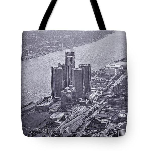 Downtown Detroit Tote Bag by Nicholas  Grunas