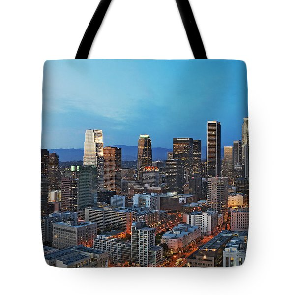 Downtown Los Angeles Tote Bag by Kelley King