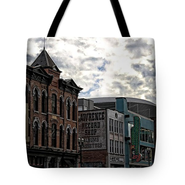 Downtown Nashville Tote Bag by Dan Sproul