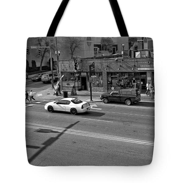 Downtown Nashville Legends Corner Tote Bag by Dan Sproul