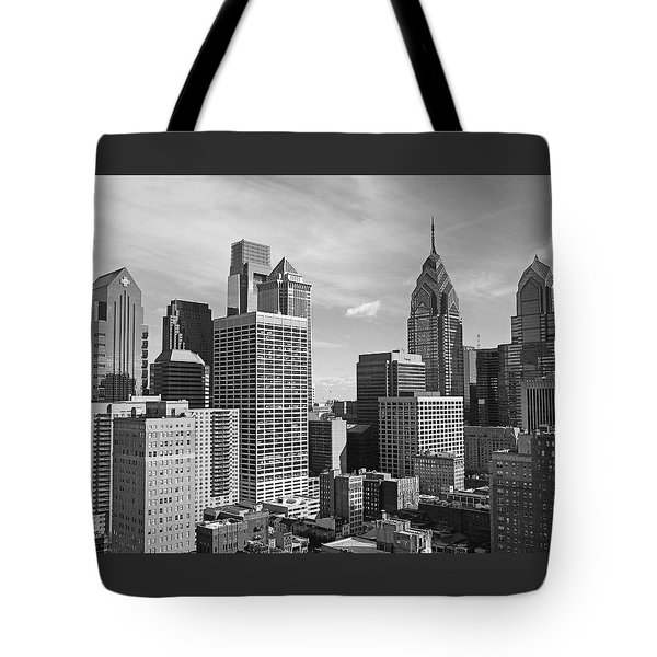 Downtown Philadelphia Tote Bag by Rona Black