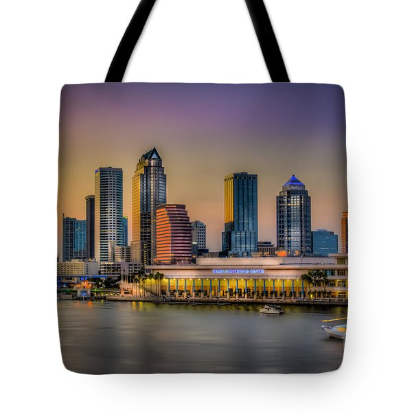 Downtown Tampa Tote Bag by Marvin Spates