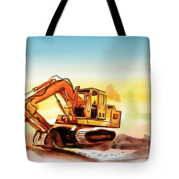 Dozer October Tote Bag by Kip DeVore