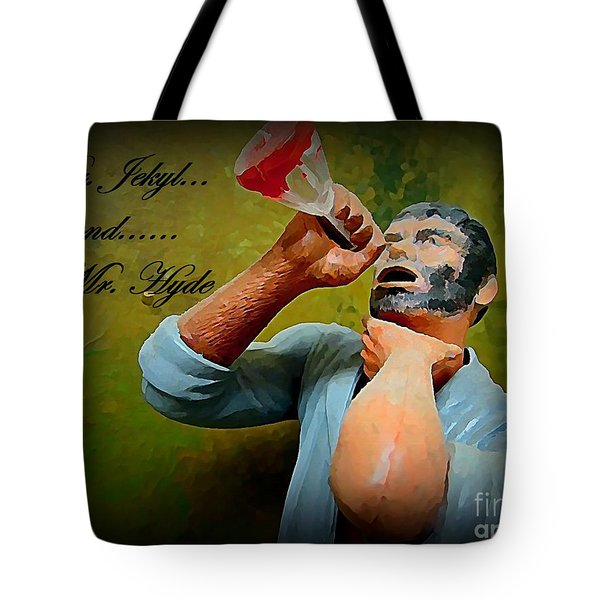 Dr. Jekyl and Mr. Hyde Tote Bag by John Malone