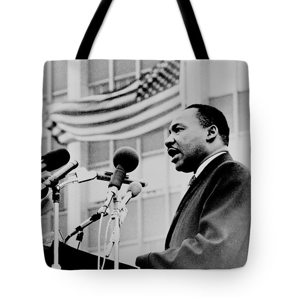 Dr Martin Luther King Jr Tote Bag by Benjamin Yeager