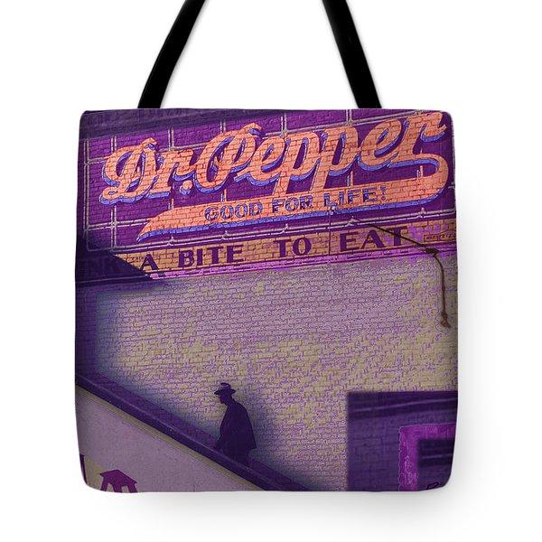 Dr Pepper Blues Tote Bag by Tony Rubino
