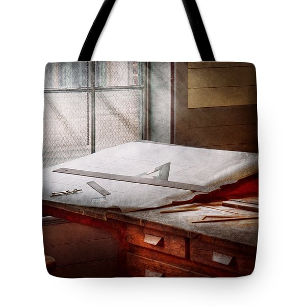 Drafting - Before computers existed  Tote Bag by Mike Savad