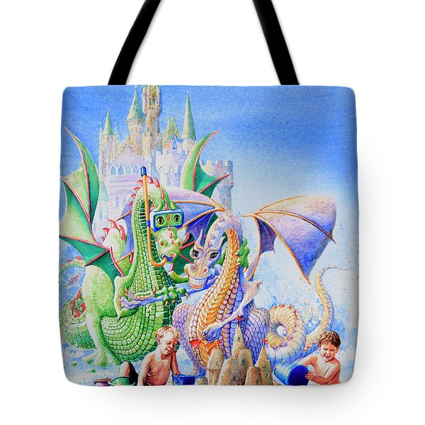 Dragon Castle Tote Bag by Hanne Lore Koehler