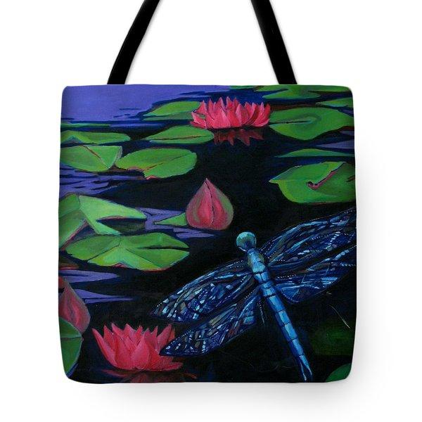 Dragon Fly - Botanical Tote Bag by Grace Liberator