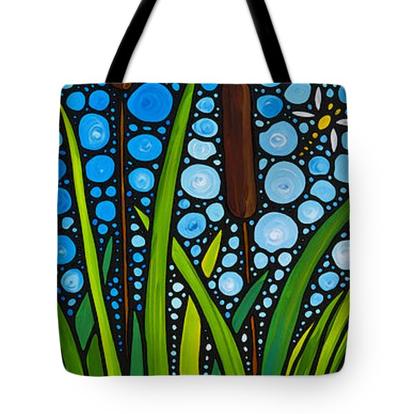 Dragonfly Pond by Sharon Cummings Tote Bag by Sharon Cummings