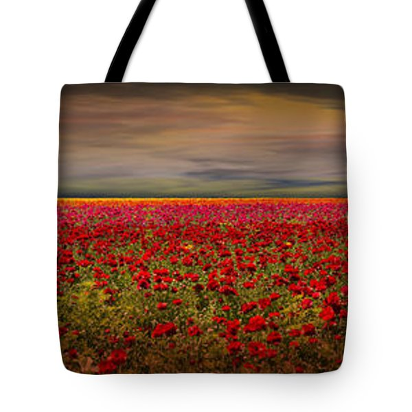 Drama Over The Flower Fields Tote Bag by Angela A Stanton