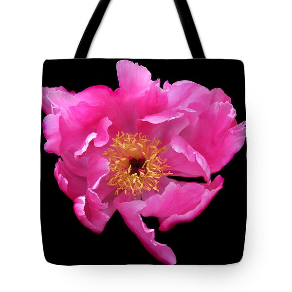 Dramatic Hot Pink Peony Flower Tote Bag by Jennie Marie Schell