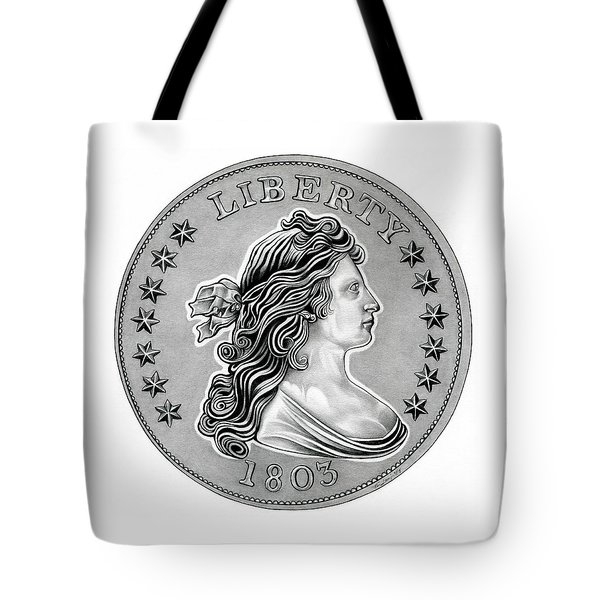 Draped Bust Liberty Tote Bag by Fred Larucci
