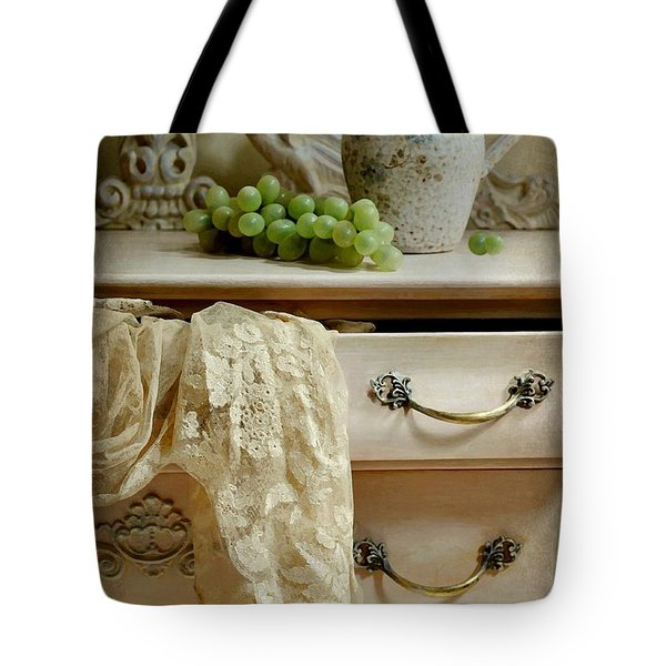 Drawer of Lace Tote Bag by Diana Angstadt