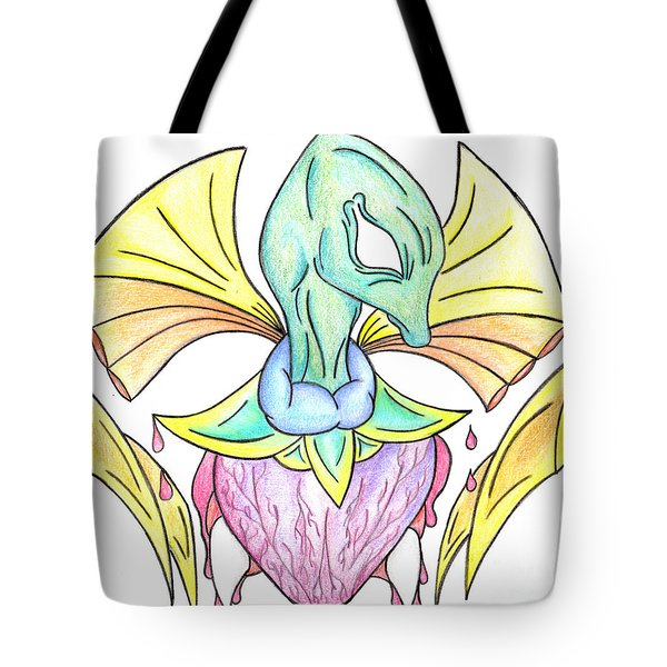 Drawing Abstract Creation Tote Bag by Minding My  Visions by Adri and Ray