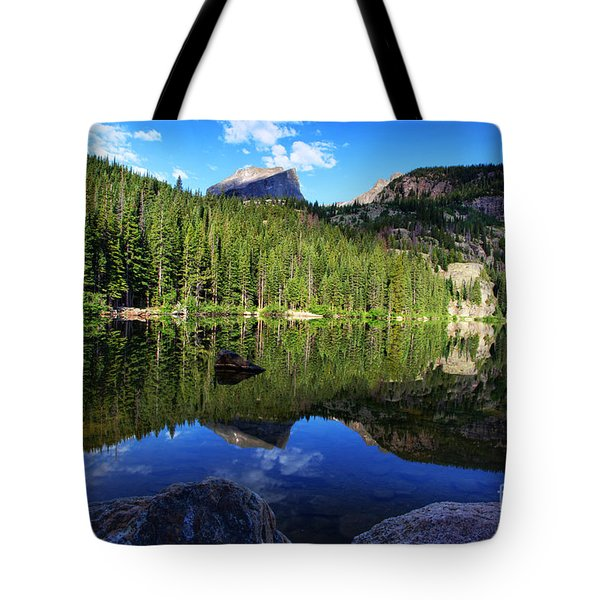 Dream Lake Rocky Mountain National Park Tote Bag by Wayne Moran
