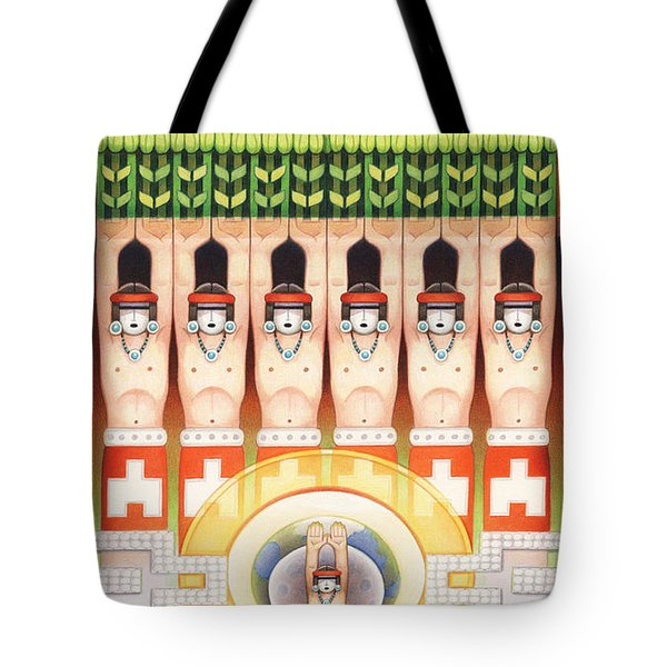 Dream Of The Maize Dancers Tote Bag by Amy S Turner