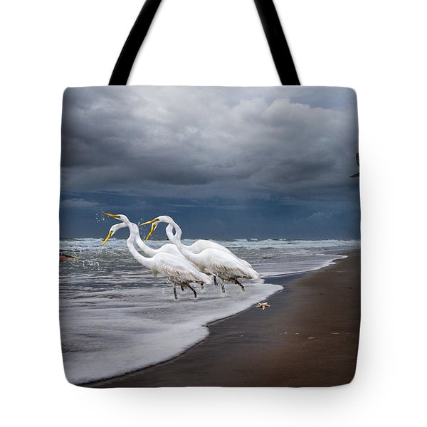 Dreaming of Egrets by the Sea II Tote Bag by Betsy A  Cutler