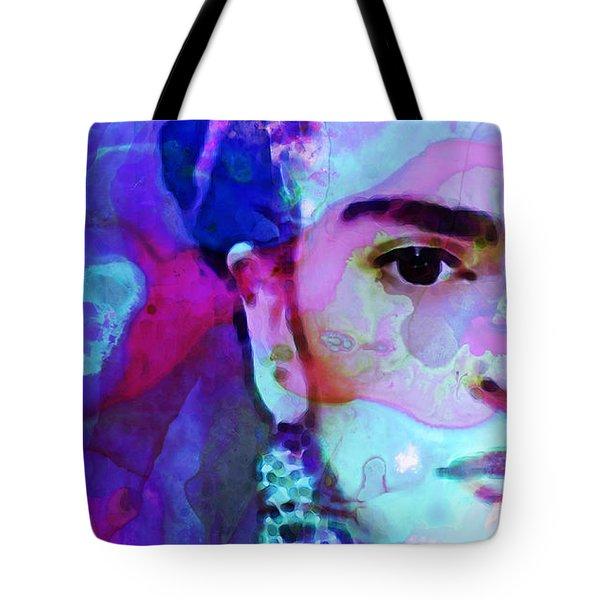 Dreaming of Frida - Art By Sharon Cummings Tote Bag by Sharon Cummings