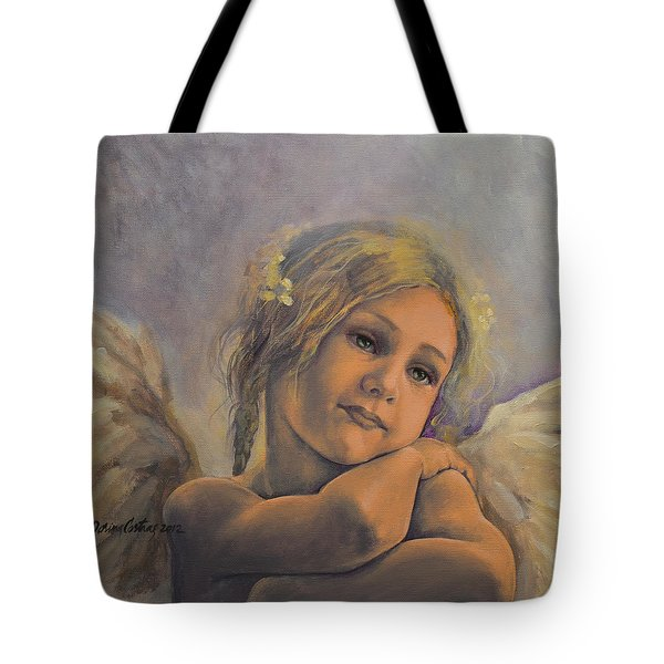 Dreamy Angel Tote Bag by Dorina  Costras