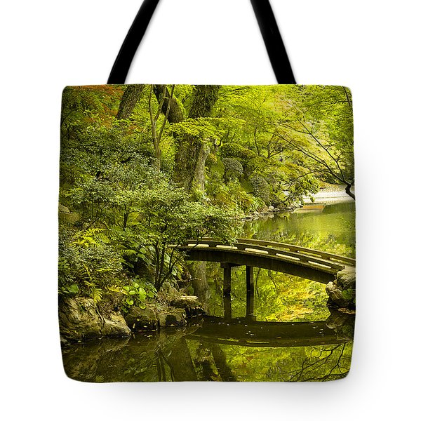 Dreamy Japanese Garden Tote Bag by Sebastian Musial