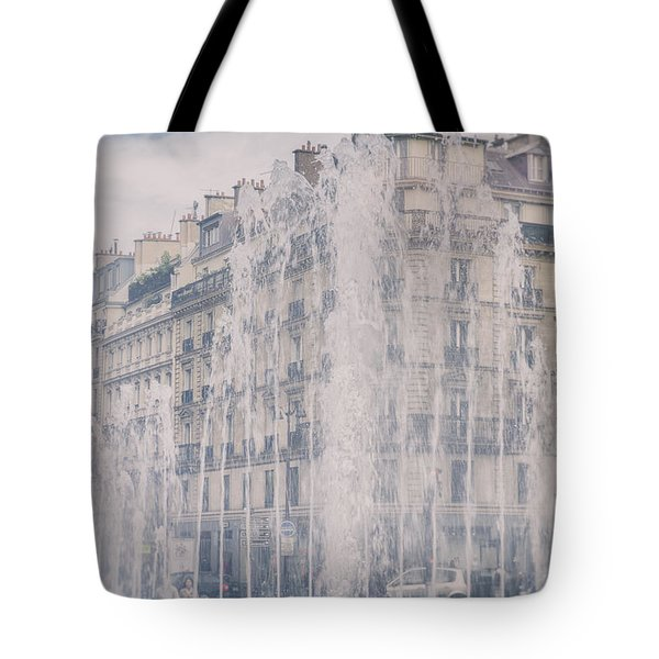 Dreamy Paris Fountains Tote Bag by Nomad Art And  Design