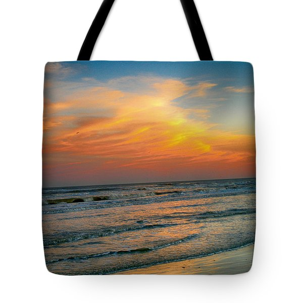 Dreamy Texas Sunset Tote Bag by Kristina Deane