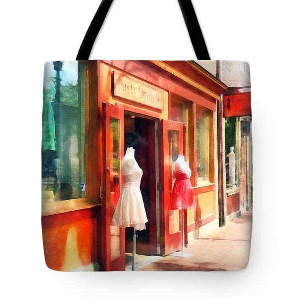 Dress Shop Fells Point Md Tote Bag by Susan Savad